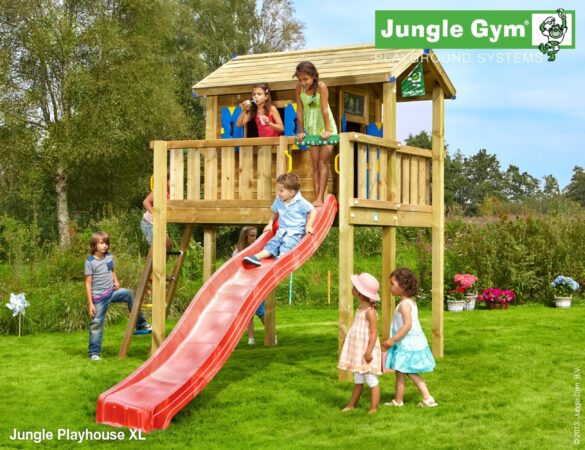 Afbeelding van Jungle Gym | Playhouse XL | DeLuxe | Rood