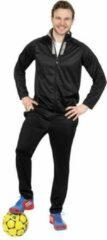 Donnay Tracksuit, 2-delig, zwart/grijs, maat XL