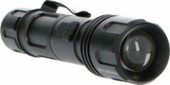 Zwarte Proventa PRO LED Zaklamp met zoomfunctie - Dimbaar - Waterdicht - Tot 180 meter