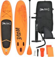 In.tec Opblaasbaar SUP board met accessoires oranje met patroon