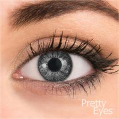 Pretty eyes daglens parelgrijs 2 stuks - Kleurlenzen