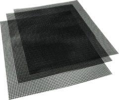 Zwarte 4cookz 3 stuks non-stick teflon BBQ matten 33x40cm -70~260℃ - mesh