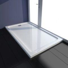 VidaXL Piatto doccia rettangolare in ABS bianco 70 x 120 cm