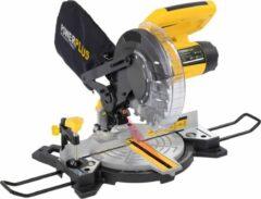 Gele Powerplus POWX075700 Afkort- en verstekzaag – 1500W – Ø210mm 24 tands zaagblad