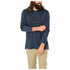 Super.natural - Logo L/S - Longsleeve maat S, blauw/beige/zwart
