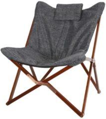 Lesli Living Lesli Vlinderstoel 'Manu' kleur Grijs Gemeleerd