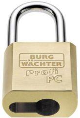 Burg Wächter 116 PC 50 Niro Hangslot Messing #####Profilzylinder-Vorhangschloss