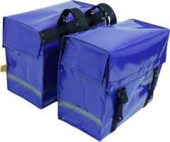 De Poort Luxe - Dubbele Fietstas - 46 l - Blauw
