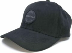 Suede Pet Zwart Hoog - Zwarte Baseball Cap - Ronde klep - Wakefield Petten