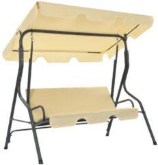 Creme witte VidaXL Tuinschommelstoel 170x110x153 cm crèmewit