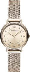 Emporio Armani AR11129 Horloge Kappa Mesh staal zilver-en rosekleurig 32 mm