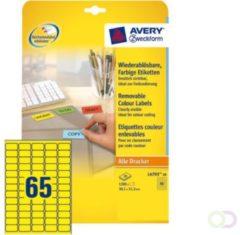 Zweckform Laseretiket Avery 38,1x21,2mm 20 vel 65 etiketten per vel geel