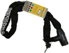 Zwarte Stahlex Kettingslot Fietsslot | 8mm x 120cm | Gehard staal | 1700g | Stevig - niet door te knippen met een betonschaar | Brommerslot