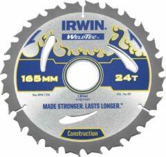 IRWIN Cirkelzaagblad WELDTEC 165x Asgat 30 (20)x24T 2,4 ATB