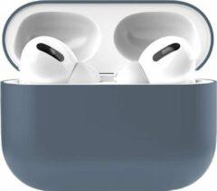 Teddo Apple Airpods Pro Siliconen - Case - Hoesje - Geschikt voor Apple Airpods Pro - Blauw