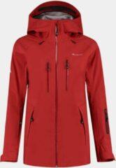 Cortazu Mountain Hard Shell Jas Chili Rood | Dames warme outdoor jas waterdicht & winddicht met capuchon