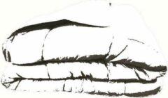 Merkloos / Sans marque Dekbed in vlakken doorgestikt - 240x220 - Donkergrijs / Zilvergrijs