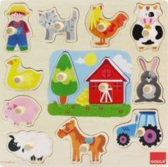 Jumbo Spiele GmbH Goula Houten Puzzel - Boerderij - 12 Stukjes