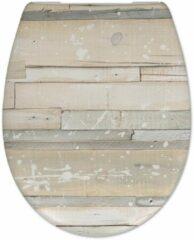 Douche Concurrent Toiletbril Cedo Pastel Wood Print Duroplast Softclose en Quickrelease Toiletzitting