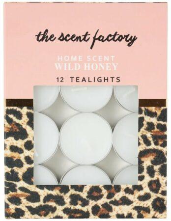 Afbeelding van Xenos Home scent theelicht met geur - Wild Honey - set van 12