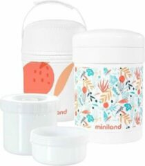 Miniland Voedselcontainer Mediterraans 700 Ml Oranje 4-delig