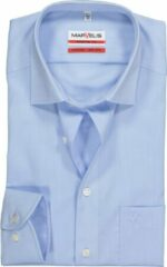 MARVELIS Modern Fit overhemd - mouwlengte 7 - lichtblauw - Strijkvrij - Boordmaat: 39