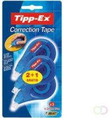 Tipp-Ex correctieroller Easy Correct, blister van 3 stuks (2 + 1 gratis)