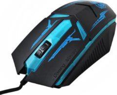 Blauwe ISOT Bedrade Optische LED Game Muis - Ergonomische Wired USB Gaming Muis Voor PC/Laptop/Windows/Macbook - Linkshandig / Rechtshandig - Bedraad