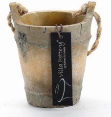 Villa Pottery Pot Bruin Nepal - Pot Bruin Nepal d=9x12 hoog