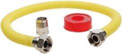 Grijze Easyfiks Universele gasslang aansluitset 60cm inbouwapparatuur (SM1076)
