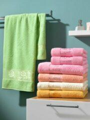 Handdoeken 'Olga' Webschatz groen