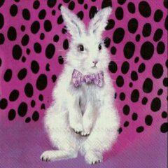 IHR - BAD HAIR BUNNY - papieren servetten - Konijn - Pasen - Roze