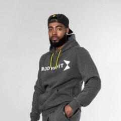 Bodyfit Body&Fit Essential Cosy Hoodie - Trui met Capuchon - Hoodie Heren - Maat: S - Grijs