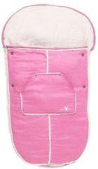 Roze Wallaboo - Voetenzak Suède & Bont tot 36 maanden - Sweet Pink