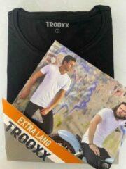 Zwarte Trooxx T-shirt 3x 2 pack, 6 stuks Extra Long - Round Neck - Kleur: Black - Maat: XL
