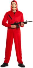 Rode EUROCARNAVALES - Casa de Papel kostuum voor volwassenen - XL - Volwassenen kostuums