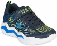 Marineblauwe Skechers S-Lights - Erupters IV Sneaker Junior