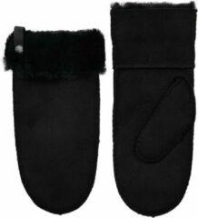 Van Buren Bolsward BV Van Buren suède/wollen wanten | Zwart | 2/M | Lamsvacht wanten