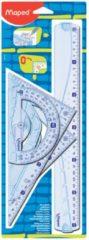Maped Office Geometric Kit met 2 driehoeken 21 cm, 30 cm liniaal en 1 gradenboog
