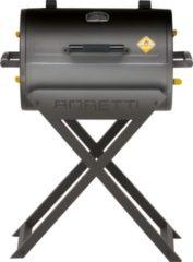 Grijze Boretti Fratello houtskoolbarbecue - Grilloppervlak 58x41 cm - Zwart