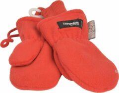 P&T Wanten Kinderen 2j. Oranje met Koordje, Micro Fleece |Dubbel gevoerd Thinsulate