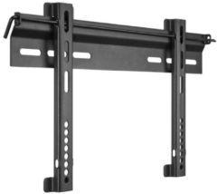 Zwarte Wentronic Goobay EasyFix Ultraslim L - Vaste muurbeugel - Geschikt voor tv's van 23 t/m 55 inch - Zwart