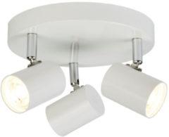 Witte Home24 LED-plafondlamp Rollo III, searchlight