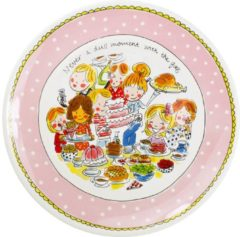 Roze Blond Amsterdam Even Bijkletsen serveerschaal (Ø33 cm)