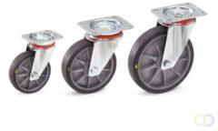 Fetra Zwenkwiel 160 x 40 mm, TPE-wielen elektrisch geleidend