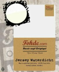 Witte Fohde Matrasbeschermer Jersey Waterdichte Matrasbeschermer - 90 X 220 cm