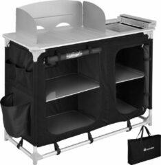 Tectake - campingkeuken afm. 116 x 52 x 107 cm zwart - 403345