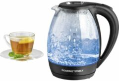 Blauwe GourmetMaxx 07971 Kettle cordless Black, Glass