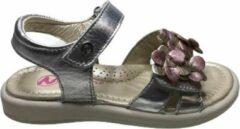 Roze Naturino velcro bloemen sandalen 6043 silver mt 26