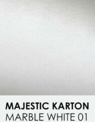 Witte Karton met glinster notrakkarton Majestic marble white 01 30,5x30,5 cm 250 gr.
